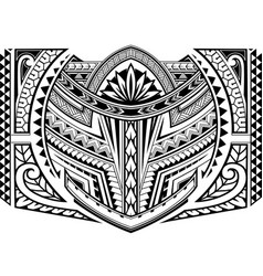Sleeve tattoo in maori style vector