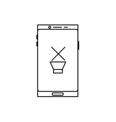 smartphone muted sound icon vector image