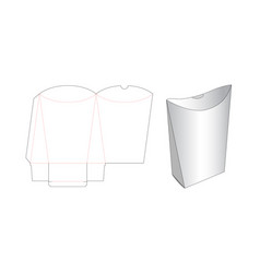 Snack packaging die cut template design vector