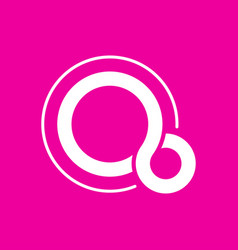 Stylized letter q logo letter q on pink vector