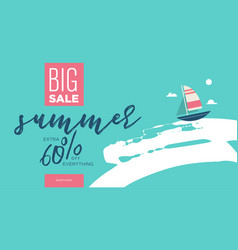 summer sale for mobile and soc vector image