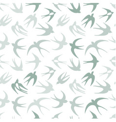 Swallows seamless pattern for your design vector