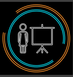 teacher icon - teacher with board vector image