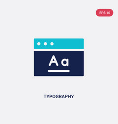 two color typography icon from creative pocess vector image