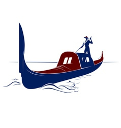 Venice boat vector image vector image