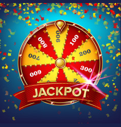 Wheel fortune poster gamble chance vector