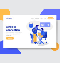 Wireless connection and wifi vector