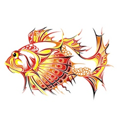 abstract fish vector image vector image