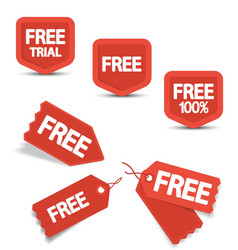 Free Tags vector image vector image