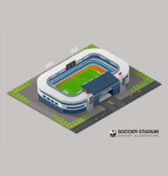 isometric soccer stadium vector image