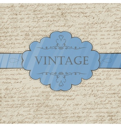 vintage style greeting card vector image