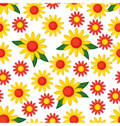 yellow flower pattern vector image vector image