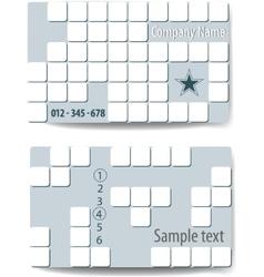 business card tetris style vector element vector image