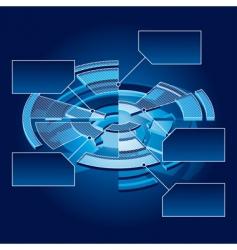 circle chart vector image
