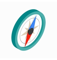 Compass icon isometric 3d style vector image vector image