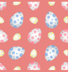easter eggs in polka dots vector image vector image
