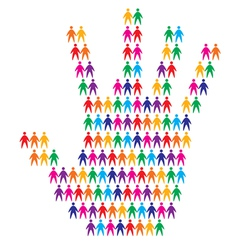 hand with people background vector image vector image