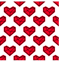 heart seamless pattern for valentines day vector image vector image