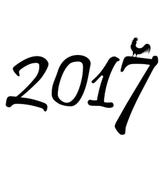 New for 2017 Year of the cock vector image