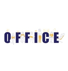 Office text concept vector image vector image