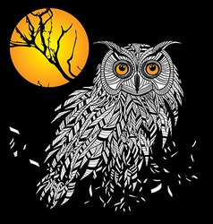 Owl bird head as halloween symbol for mascot or em vector image vector image