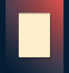 realistic blank textbook icon notepad template vector image