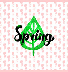 spring handwritten card vector image vector image