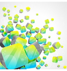 3d bright abstract background vector image vector image