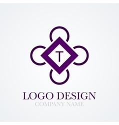 cube logo vector image vector image