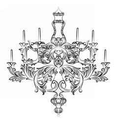 Exquisite Rich Baroque Classic chandelier vector image