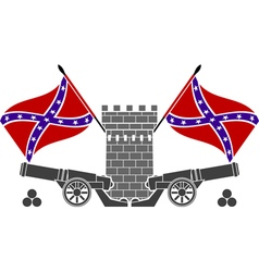 glory of confederacy stencil second variant vector image vector image