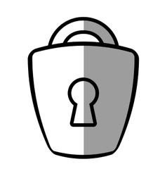 padlock lock security money bank shadow vector image