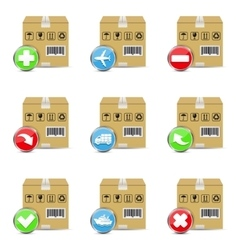 Delivery shipping icons vector image vector image