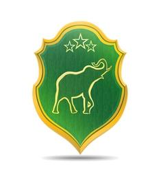 Golden elephant logo vector image vector image