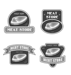 Retro butchery and meat store black badge label vector image vector image