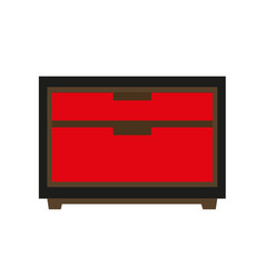 Small red chest vector
