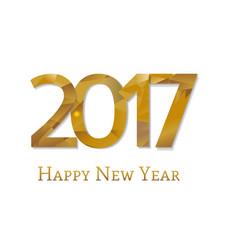 2017 new year text vector image