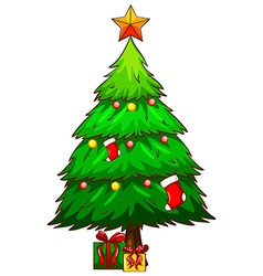 A simple sketch of a christmas tree vector image