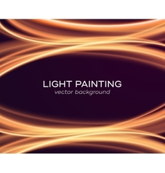 Abstract background with glowing curves vector image
