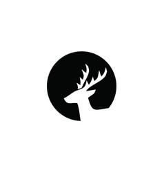 abstract deer head logo vector image