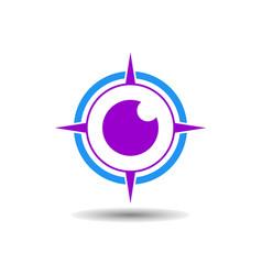 Abstract eye compass logo icon vector