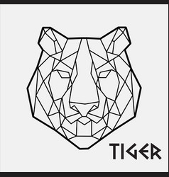 Abstract polygonal geometric head a tiger vector