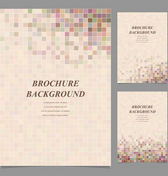 Abstract square tile mosaic brochure design vector image