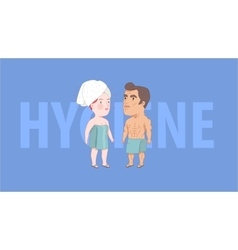 After shower hygiene Dodo People collection vector