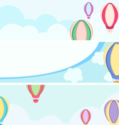 Balloon banners vector