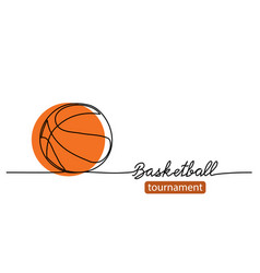 Basketball tournament simple background vector