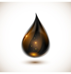 Black oil drop vector