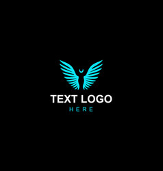 Blue-angel-sophisticated-logo vector