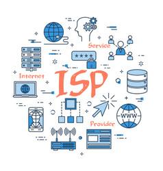 blue internet service provider concept vector image