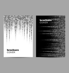 Brochure template layout design abstract dotted vector